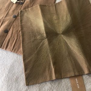 BRAND NEW Pair of Shinny GOLD Pillow covers